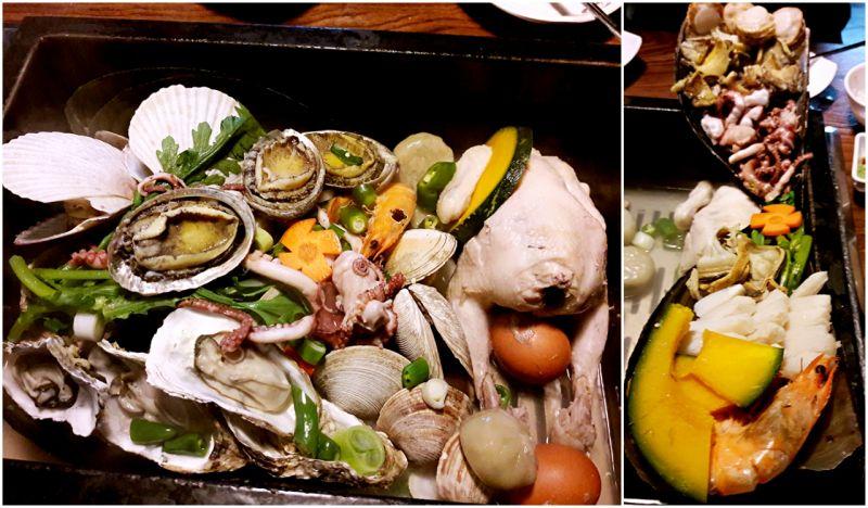 【韓國必吃】超豪華蒸貝鍋!鮑魚、干貝、牡蠣等多種海鮮甚至還有一隻雞!讓你海陸一次吃到飽~