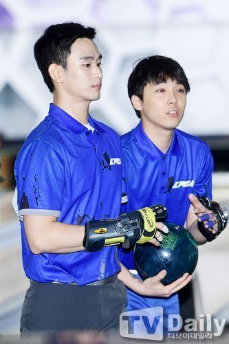 金秀贤、李洪基职业保龄球选拔赛 遗憾落败