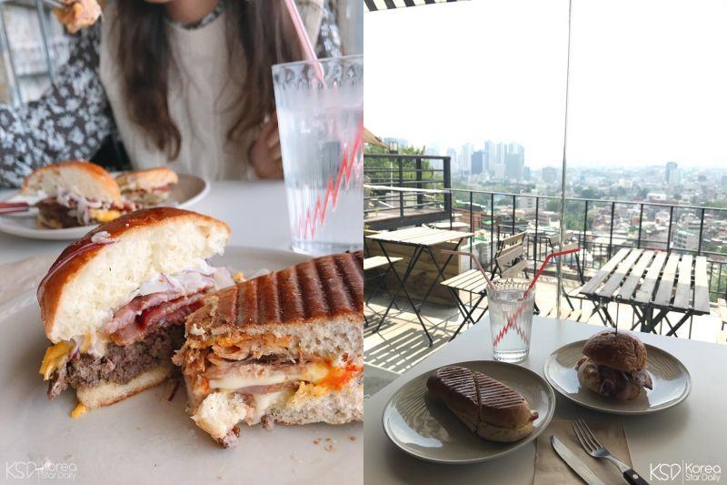 【首尔cafe】一览梨泰院风光的屋顶咖啡厅:the 100 food truck