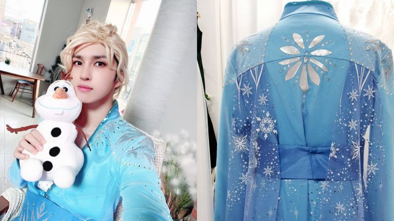 VIXX Ken超爱Elsa公主~♥特订制男装礼服Cos全套!网民:一看就很贵,但很想买XD