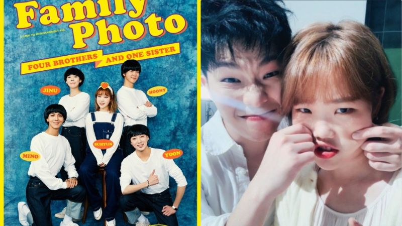 樂童李秀賢上傳與WINNER的預告照:「與新哥哥們的家族照片」親哥李燦赫回覆...卻被她回:「你是誰呀」