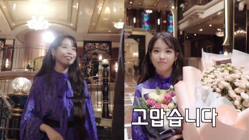 《IU TV》公開《德魯納酒店》拍攝花絮!最後拍攝時IU也哭了,並說:「在這場面都不哭,就不是人了!」