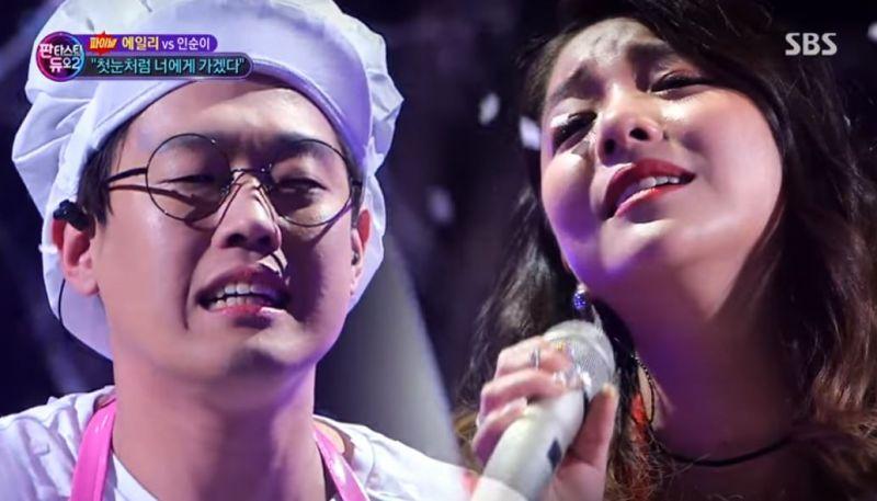 Ailee 於節目上和素人合唱《如初雪般走向你》