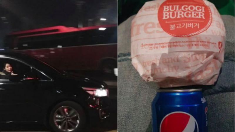 當IU的粉絲實在太幸福了~IU訂500個漢堡送等待已久的粉絲們
