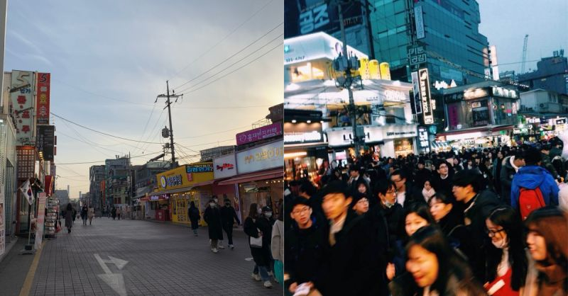 疫情下的韓國變成什麼樣了?帶你看看今日弘大商圈的面貌