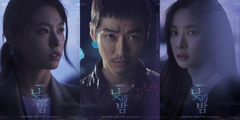 《日与夜》主海报、人物海报:雪炫、李清娥将从南宫珉身上追查起「眩目的黑暗真相」