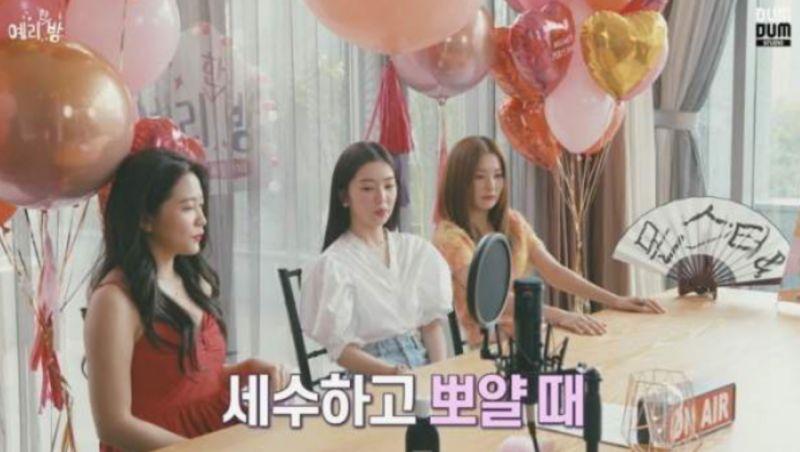 不知道該羨慕誰!Red Velvet Yeri被姐姐Irene&澀琪親到臉變形XD