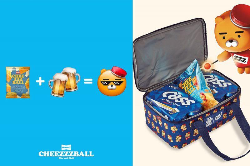 Ryan cheese ball+韩国啤酒Cass=夏天消暑的最佳拍档!