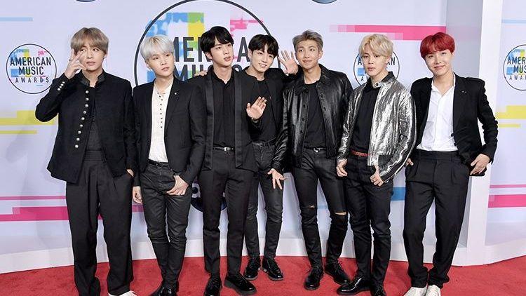 防彈少年團登2017全美音樂獎紅毯! 成為韓團第一人