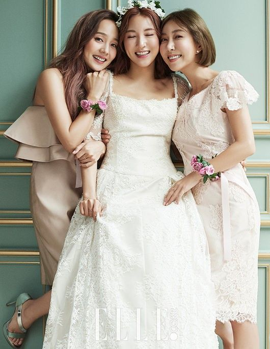 元祖女团晒幸福!三月新娘Bada与S.E.S姊妹同框婚纱画报公开