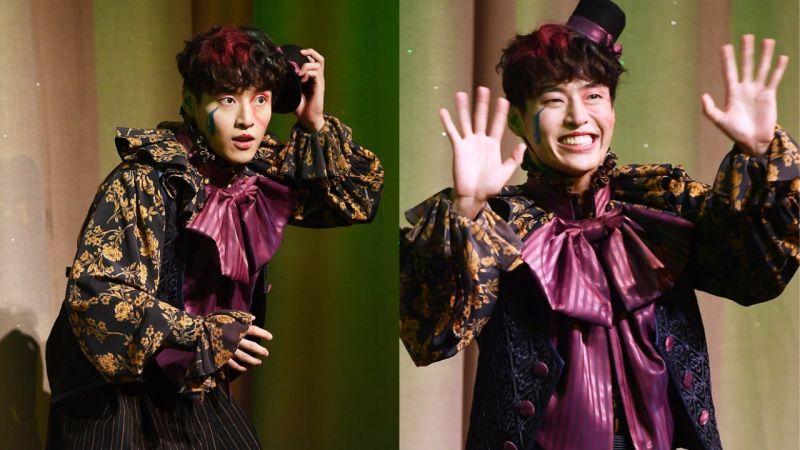 姜河那主演音乐剧《幻想童话》今日首演!夸张的喜感造型,吸引了大家的视线 XD
