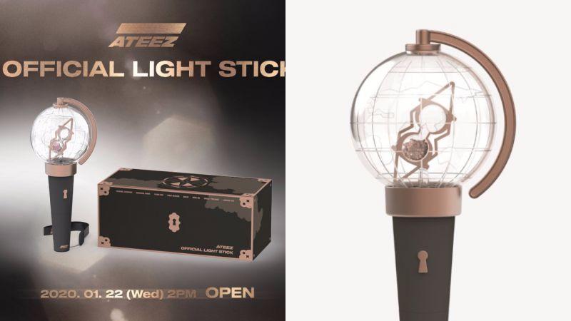 ATEEZ應援棒設計成「地球儀」,裡面是指南針+沙漏!