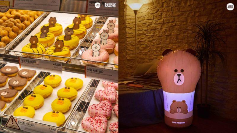 Line Friends与Dunkin' Donuts的冬季乐园
