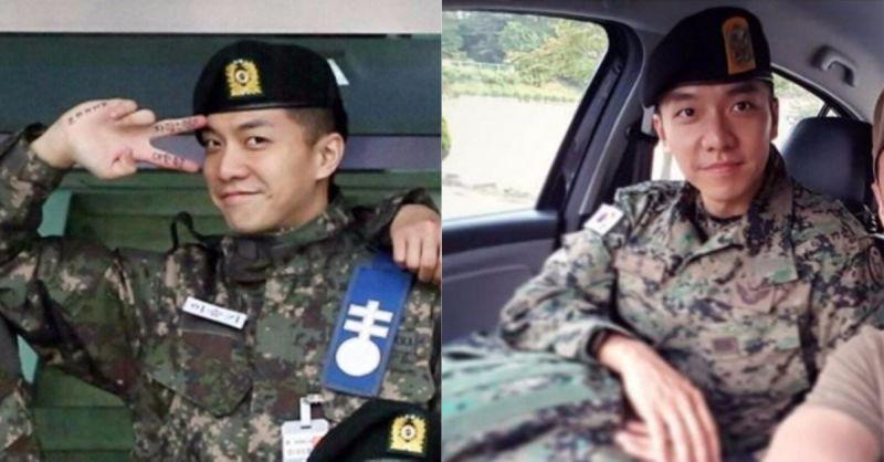 李昇基穿著軍服帥氣依舊!將在10月底退伍!已經期待他的回歸啦!