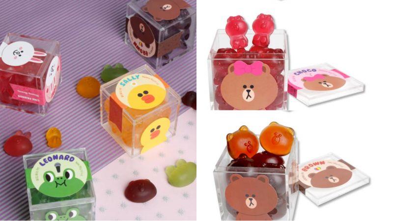 韩国人气糖果店与LINE FRIENDS合作!推出超可爱熊大、兔兔、熊妹的软糖!