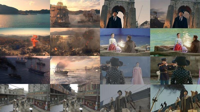 tvN《阳光先生》每个拍摄场景特别CG构图,美到像一幅幅画~!