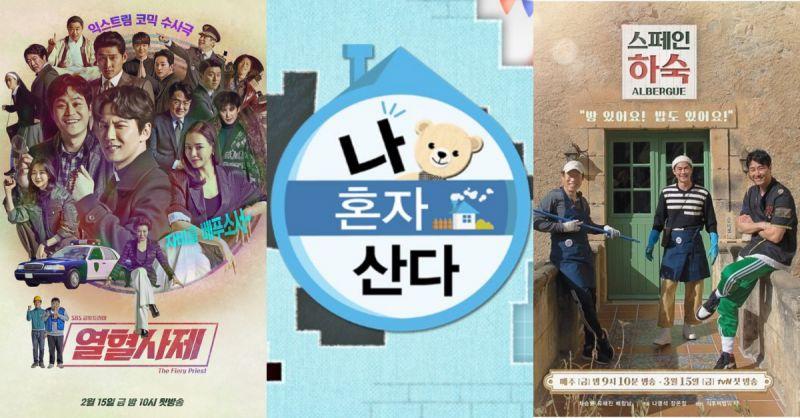 4月韓國人最喜愛的電視節目排行榜出爐:《我獨》重回第一!
