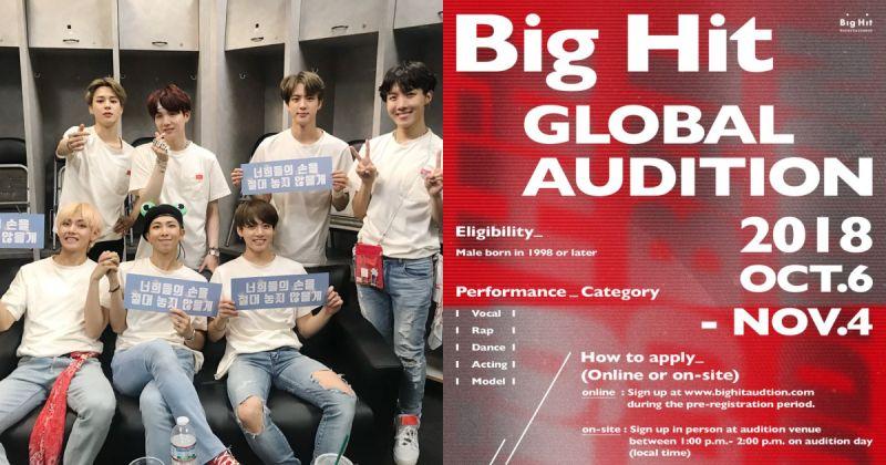 想成为防弹少年团的师弟吗?Big Hit 全球徵选将启动 最后一站来到香港!