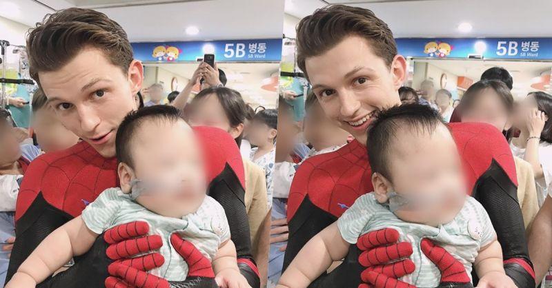 《蜘蛛侠》荷兰弟探访首尔大医院患儿  赴韩宣传新片不忘展现爱心❤
