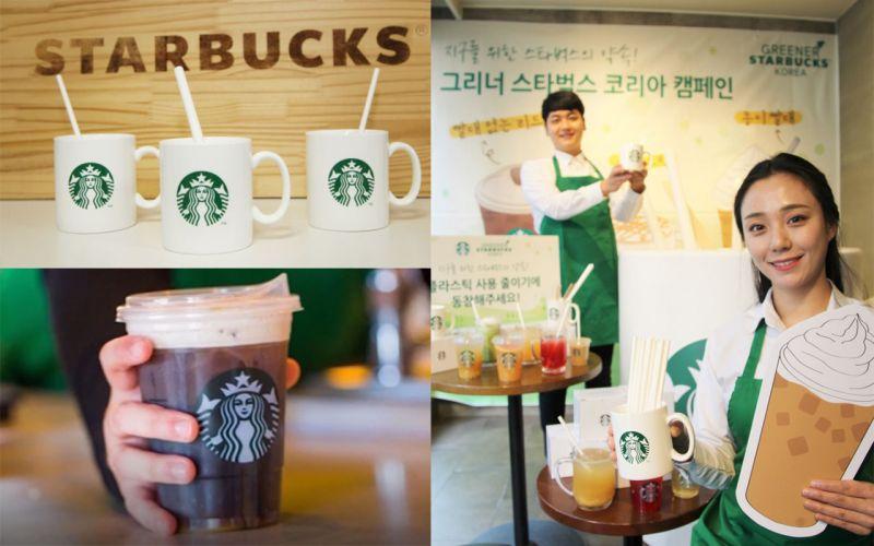 為了地球、為了海洋生物:韓國Starbucks全面推行紙吸管!