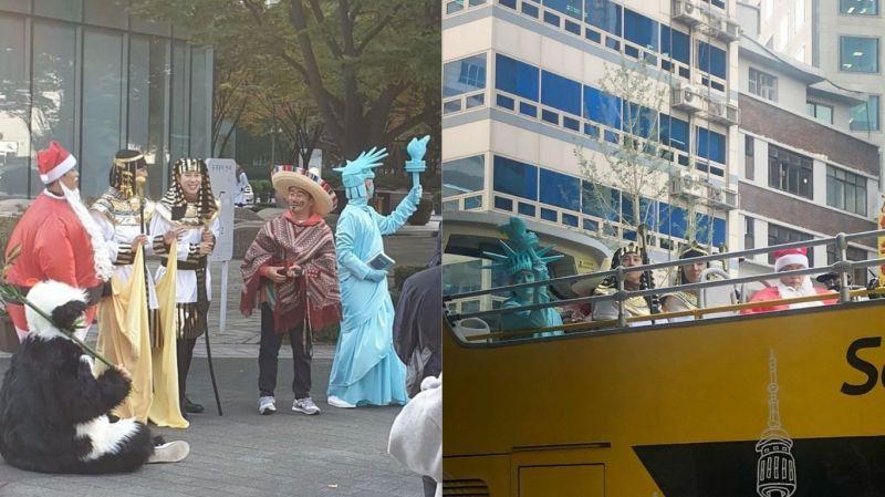 《新西遊記7》最新路透!難道是「環遊世界」系列?圭賢繼藍精靈、圍藍圍巾後 這次是藍色的自由女神XD