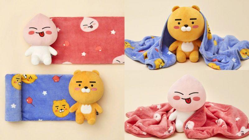「Kakao Friends」陪你過冬!推出了超可愛的Ryan、Apeach玩偶毯子!