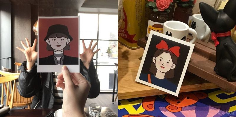 為你畫專屬可愛的頭像!來釜山一定要來這裡留下的紀念照~