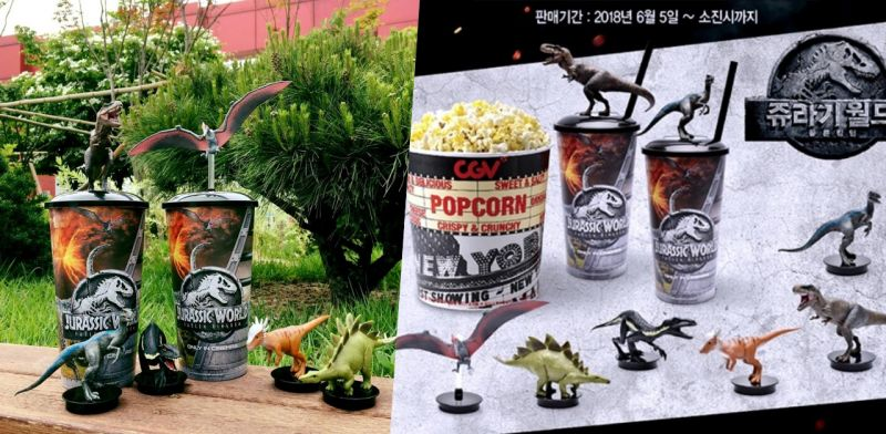 太狂! 韓國CGV買就送《侏羅紀世界》恐龍模型,還原度超高!