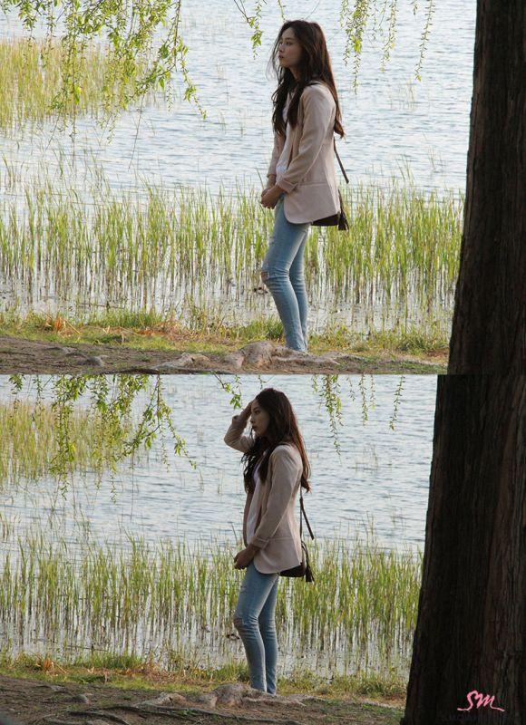 《亲爱的恩东啊》片场照 尹素熙清纯动人