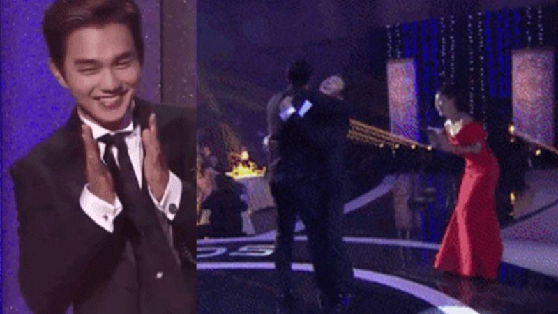 【2018 MBC演技大赏】苏志燮捧大赏俞承豪高兴到飞起,小跑到面前求抱抱!网民:大男人的我看了都觉得可爱♥