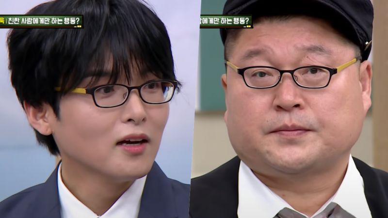 《认识的哥哥》Super Junior厉旭拿出超高度数眼镜!姜镐童一戴上「脸变更大了」
