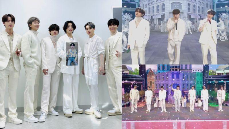 《2020 MAMA》BTS防弹少年团《Life Goes On》舞台,SUGA以投影的方式惊喜登场