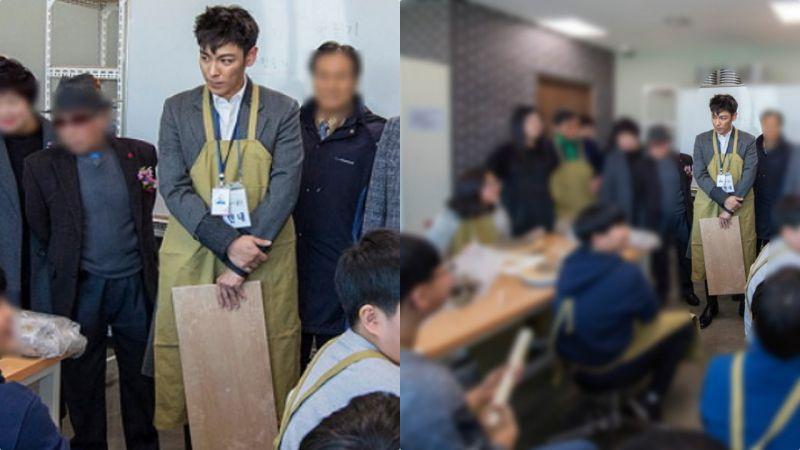 T.O.P服役近況公開:面帶笑容穿圍裙為區民服務