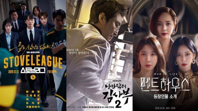 《2020 SBS演技大賞》競爭超激烈!《金牌救援》、《金師傅2》、《Penthouse》等作品,收視都超過兩位數!