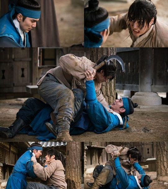 《君主-假面的主人》俞承豪、金明洙激烈打鬥劇照公開
