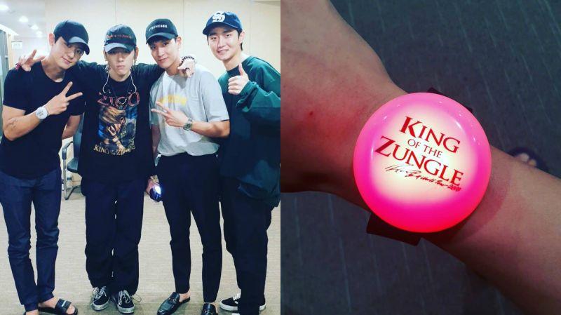 从澳门回来后就直奔好友的演唱会!EXO灿烈、崔泰俊到场为ZICO应援