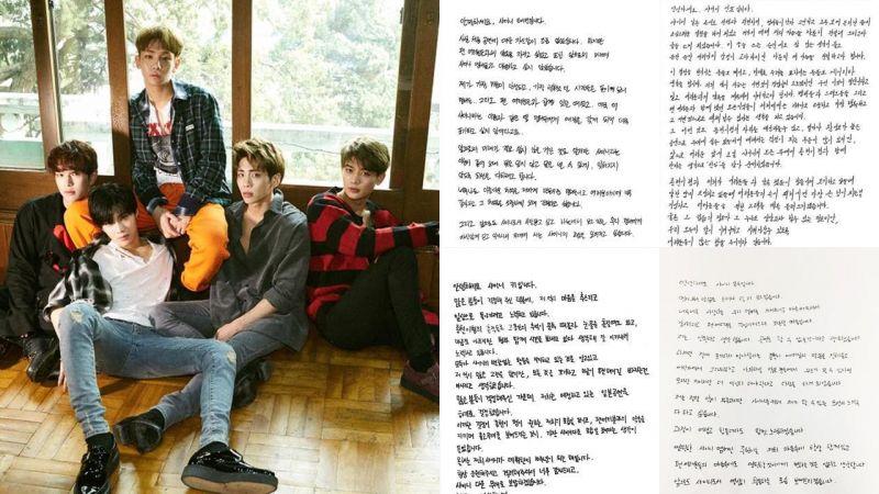 SHINee公開親筆信!將重新展開活動:「和鐘鉉哥永遠在一起,繼續遵守與粉絲的約定。」