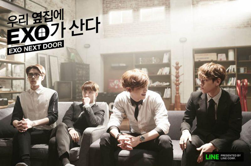 韓星網送你《我的鄰居是EXO》印刷簽名海報