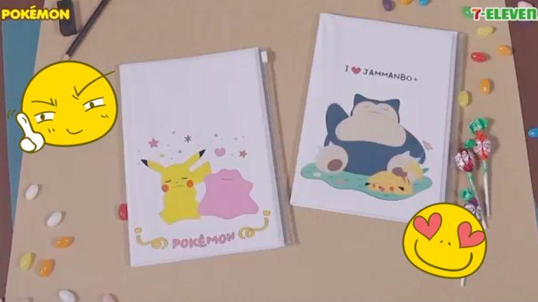 韓7-11推出寶可夢2018年日記本! 可愛貼紙+實用夾鏈袋,一不小心就兩只全入啊~