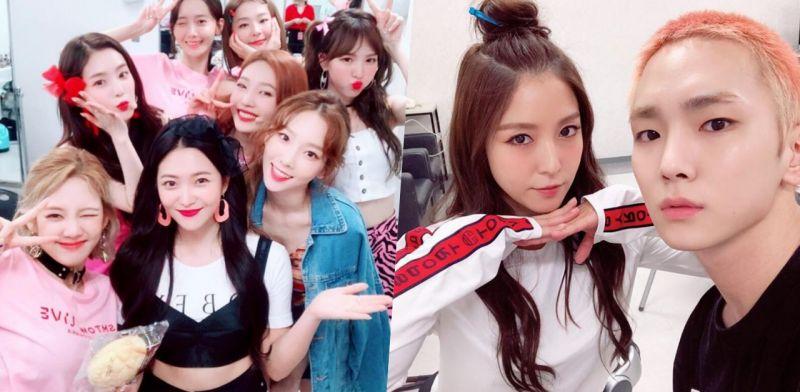 少女時代&Red Velvet合照,還有BoA&Key!SM家族演唱會好開心~