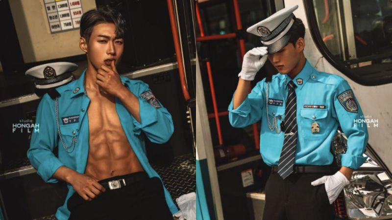 他和《海岸村恰恰恰》洪班长一样能掏出一叠资格证!韩国最年轻巴士司机,工作服下居然还藏著好身材呢~♥