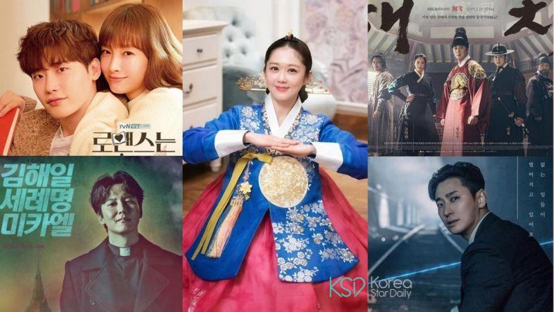 话题性韩剧大洗牌!《皇后》夺冠《罗曼史》紧追在后《热血祭司》《獬豸》新进榜