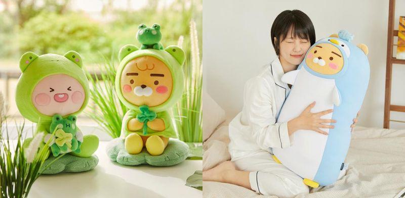 2021 Kakao Friends初夏萌偶系列:換上青蛙雨衣的Ryan跟屁桃,還有趕走炎熱的企鵝長枕~