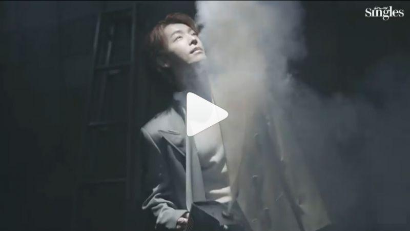 自给自足的偶像!SJ东海拍摄杂志写真,自己帮自己喷烟雾制造气氛~