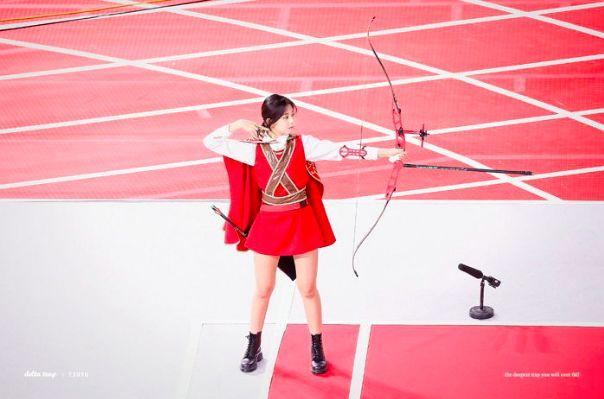 《2019偶像运动会》射箭的TWICE子瑜就是精灵公主啊,射的根本不是靶子而是人心