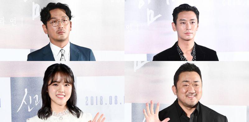 《與神同行2》製作發佈會:朱智勛表示與馬東錫前輩對視撐不過3秒!