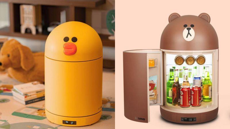 Brown&Sally的迷你冰箱來了! 兼具紫外線殺菌&藍牙音箱等多功能!