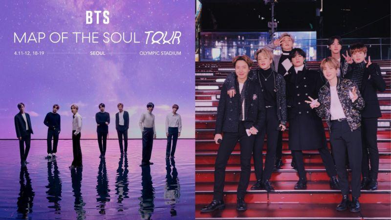 BTS防彈少年團全新巡迴演唱會首輪日程公開!4月11日將從首爾展開,陸續到17個都市舉行!