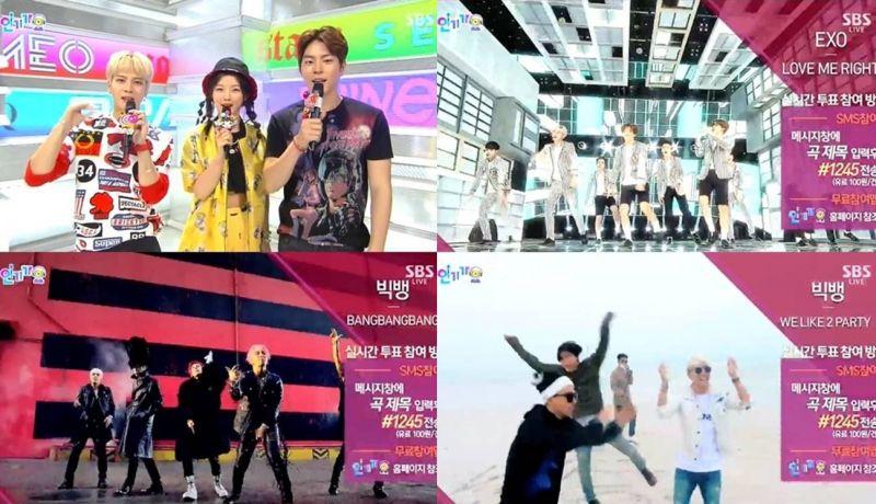 sbs人气歌谣bigbang_《人气歌谣》BigBang对决EXO 今日鹿死谁手? - KSD 韩星网 (KPOP)