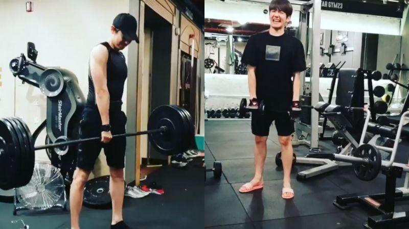 EXO成員一起去健身!男友力爆棚的燦烈 VS 小可愛伯賢 讓人忍不住露出笑容